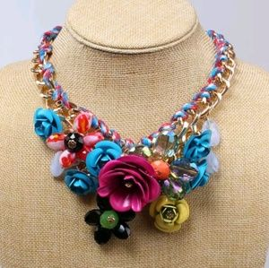 Jewelry - 🌹🌻Floral colorful necklace 🌻🌹
